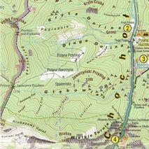 Mapa Dolina Chochołowska. Tatrzańskie Zakątki 1:22 000 Galileos