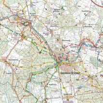 Mapa Okolice Wrocławia dla rowerzystów i piechurów. Galileos