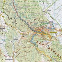 Mapa trasy rowerowe Gór Sowich Galileos