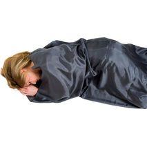 Lifeventure - Wkładka do śpiwora z jedwabiu  Silk Liner grey, kształt mumia