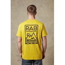 RAB - Koszulka męska STANCE GEO SS TEE sulphur