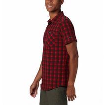 Columbia - Koszula męska Triple Canyon SS Shirt Mountain Red Mini Tonal Plaid
