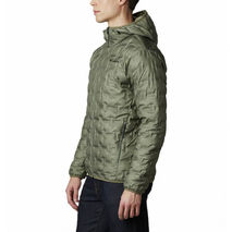 Columbia - Kurtka puchowa męska Delta Ridge Down Hooded Jacket stone green