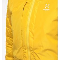 Haglöfs - Kurtka hybrydowa damska Nordic Mimic Hood Women  Pumpkin Yellow / True Black