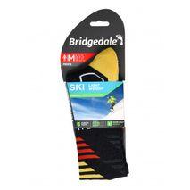 Bridgedale - Skarpety męskie Ski Lightweight Merino Performance Over Calf graphite / red