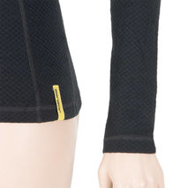 Sensor - Koszulka damska Merino Double Face Tee LS zip black