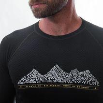 Sensor - Koszulka męska Merino Double Face Tee LS black adventure