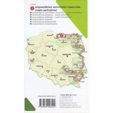 Mapa tras rowerowych. Nie tylko Green Velo. Województwo warmińsko-mazurskie, część zachodnia. Europilot