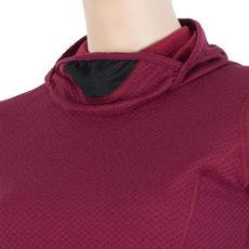 SENSOR -  bluza z kapturem damska MERINO DF lilla