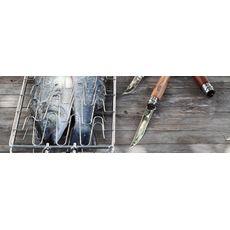 Opinel - Nóż Slim Beechwood knife N°12, rękojeść z drewna bukowego