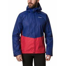 Berghaus - Kurtka membranowa męska Deluge Vented Shell Jacket sodalite blue / haute red