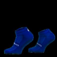 Comodo - Lekkie, krótkie skarpety biegowe z wełną merynosa RUN10 - niebieskie