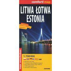 ExpressMap - Litwa Łotwa Estonia, 1:700 000