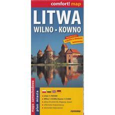 ExpressMap - Litwa Wilno Kowno, 1:700 000