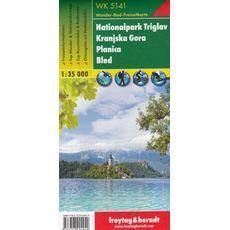 Freytag&Berndt - Triglavski Park Narodowy, Planica, Kranjska Gora, Bled 1:35 000