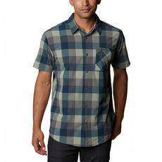 Columbia - Koszula męska Triple Canyon SS Shirt-City Grey Grid Buffalo