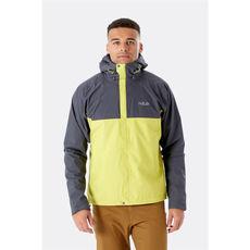 Rab - Kurtka membranowa męska Downpour Eco Jacket Graphene / Zest